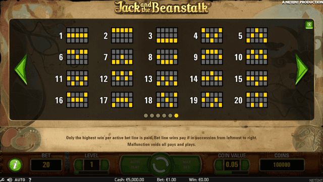 Бонусная игра Jack And The Beanstalk 6